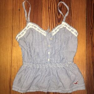 Hollister striped tank top